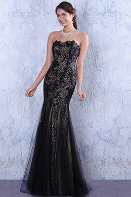 eDressit Black Strapless Homecoming Dress Prom Gown (C36144500)