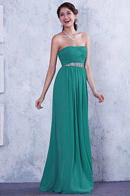 Simple Strapless A-line Evening Dress Bridesmaid Dress (C36145804)