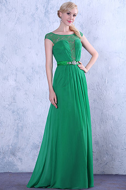 Elegant  Top Lace Cap Sleeves Evening Dress Formal Gown (02132204)