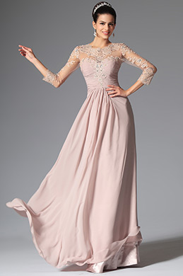 Gorgeous Lace Applique Long Sleeves Evening Dress Formal Gown (26149746)