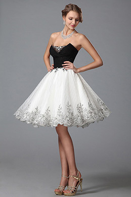 Newest Stylish Strapless V Cut Cocktail Dress Homecoming Dress (04150107)
