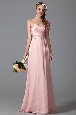 eDressit Robe demoiselle d'honeur longue bustier rose (07150101)