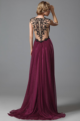eDressit V Neck Delicate Embroidery Evening Gown Prom Dress (02152217)