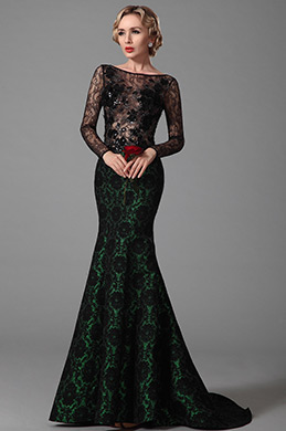 eDressit Lange Ärmel Abendkleid Ballkleid Formal Kleid (02151904)