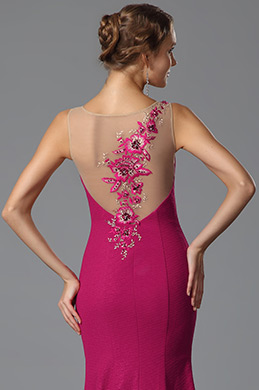 Sleeveless Trumpet Embroidery Applique Evening Gown Formal Dress (02153212)