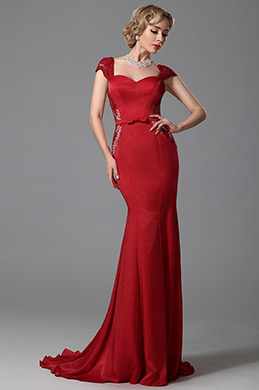 eDressit Cap Sleeves Trumpet Evening Dress Formal Wear (02152702)
