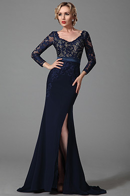 eDressit Long Sleeves Slit Mother of the Bride Dress (26152505)