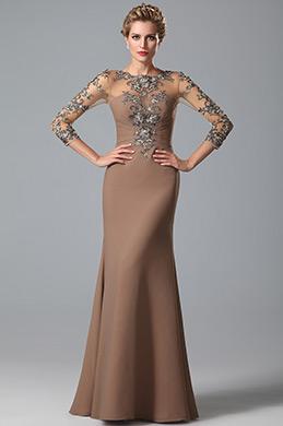 eDressit LangÄrmel Brautmutter Kleid mit Spitze Applikation (26150820)
