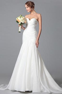 Простое Свадебное Платье Декольте Сердечка (01150407)