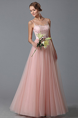 eDressit Flattering Pink Sleeveless Evening Gown Prom Dress (00152101)