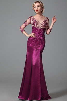 Long Sleeves Evening Gown With Delicate Embroidery Details (02153112)