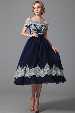 eDressit robe cocktail bleu marine rétro-chic avec dentelle (04151905)