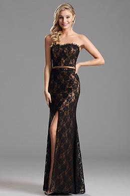 Elegant Overlace Schlitz Brautjungferkleid Abendkleid  (X07151220-3)