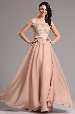 A Line- Angeschnittene Ärmel formalkleid  Abendkleid(00160346)