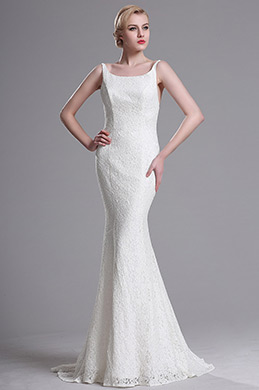 eDressit White Straped Mermaid Wedding Dress (X00163407-1)