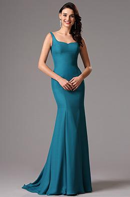 eDressit Robe de Soirée Sans Manches Bretelles Bleu (00162305)