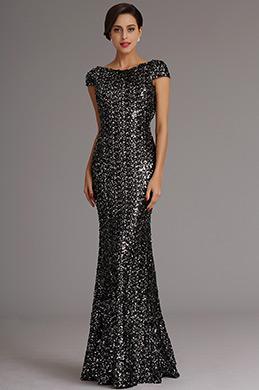 Atemberaubend Dunkel Silber Formal Kleid Abendkleid (X07160327)