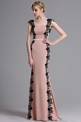 eDressit Rosy Brown Lace Applique Prom Evening Dress (02163846)