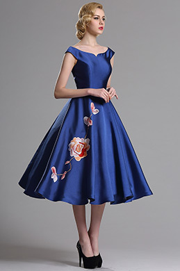 eDressit Blue Sleeveless Floral Embroidery Cocktail Dress (04161105)