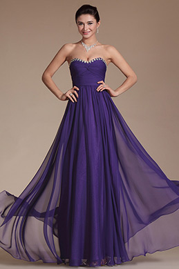 Chic Purple Sweetheart Bridesmaid Dress(C00144506)