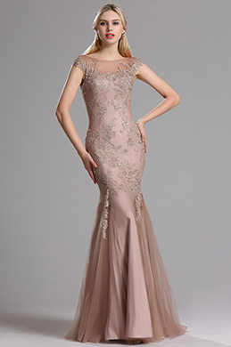 eDressit Cap Sleeves Illusion Neck Lace Mermaid Gown (02163046)