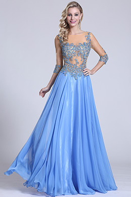 Sexy Beaded Bodice Prom Dress Evening Gown (C36152205)