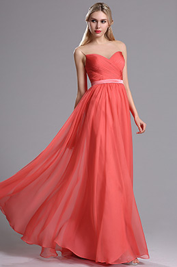 eDressit Coral Sweetheart Neckline Ruched Bridesmaid Dress (07160457)