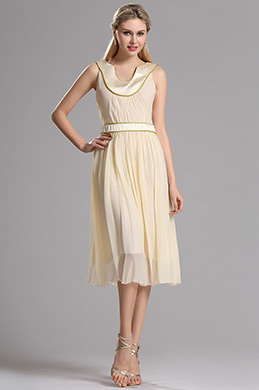 eDressit Sleeveless Pleated Layered Short Dress (00030514)