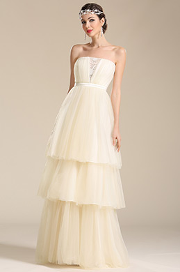 eDressit Strapless Layered Wedding Dress Bridal Gown (01150913)