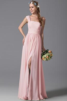 eDressit Robe de soirée pour mariage longue rose simple  (07156901)