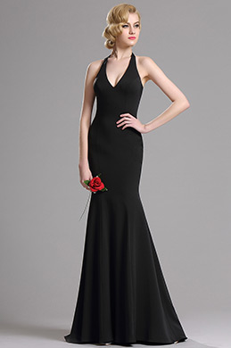 eDressit Black Halter Plunging V Neck Mermaid Prom Dress (00163200)