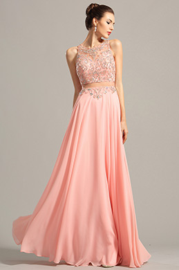 eDressit Gorgeous Sleeveless Beaded Bodice Pink Prom Dress (C36153001)