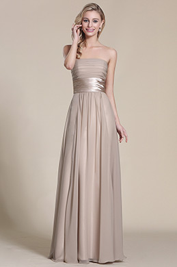 Strapless Grey Evening Gown Bridesmaid Dress (07151408)