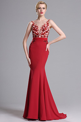 eDressit Red Sleeveless Mermaid Prom Gown Evening Dress (00163802)