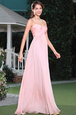 Strapless Sweetheart Blush Bridesmaid Dress Evening Dress (07156201)