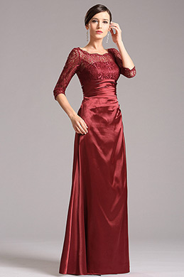 Elegant Mother of the Bride Gown with Lace Sleeves (X26121817)