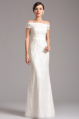 eDressit Off Shoulder White Lace Evening Dress Formal Dress (X07153207)