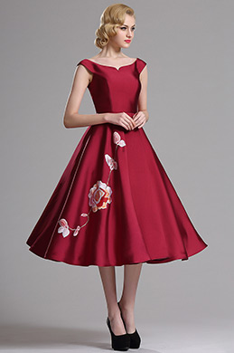 eDressit Red Sleeveless Floral Embroidered Party Dress (04161117)