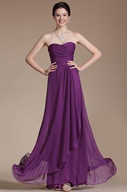 Strapless Sweetheart Purple Bridesmaid Dress Formal Dress (C00145106)