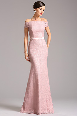 Graceful Off Shoulder Lace Evening Dress Bridesmaid Dress (07153246)