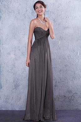 Плиссированное Вечернее Платье Декольте в Форме Сердечка (07156208)