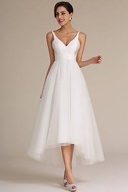 eDressit Straped V Cut Top Asymmetric Wedding Dress (01160807)