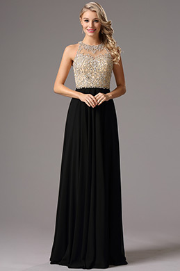 eDressit Halter Neck Beaded Bodice Prom Dress Formal Gown (36161600)