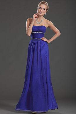 eDressit Blue Strapless Long Evening Dress(36130405)