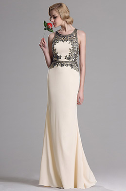 eDressit Beaded A Line Beige Prom Evening Dress (36163014)