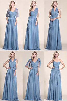 eDressit A Linie Blau Brautjungfer Kleid Abendkleid (07150805)