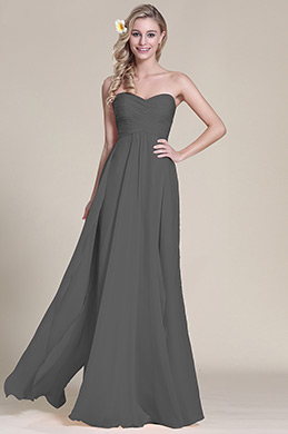 Elegant Strapless Sweetheart Grey Bridesmaid Dress (07153308)