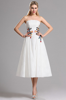 eDressit Strapless Floral Embroidery Lace Wedding Reception Dress (04161607)
