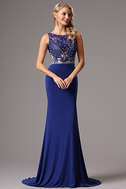 eDressit Sleeveless Beaded  Blue Prom Gown Formal Dress (02160505)