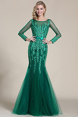 eDressit Lang Ärmel Applikation Formal Abschlussball Kleid (C36152804)